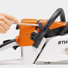 Stihl láncfűrész karburátorfűtés